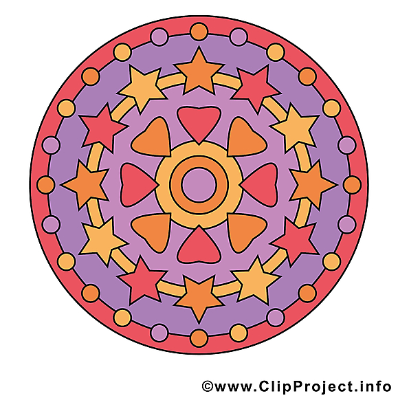 Méditation clip art mandala images gratuites