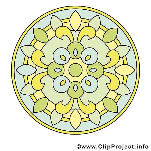 Méditation clip arts gratuits mandala illustrations
