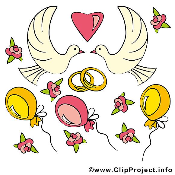 Ballons images - Mariage dessins gratuits