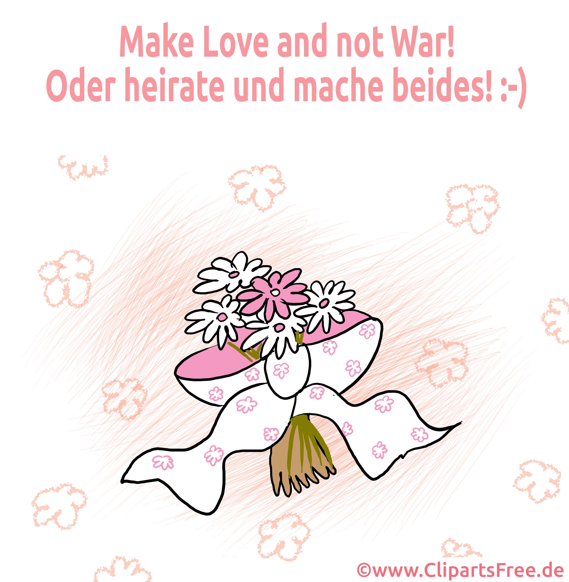 Bouquet illustration gratuite - Mariage clipart