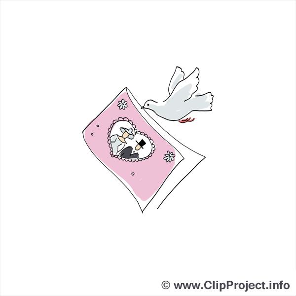 Carte de vœux dessin - Mariage cliparts à télécharger