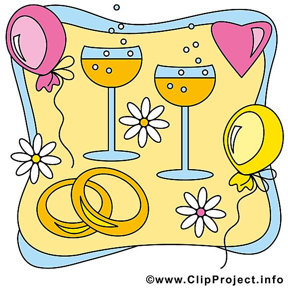 Champagne image gratuite - Mariage cliparts