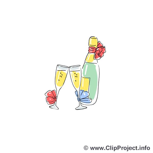 Champagne images - Mariage dessins gratuits
