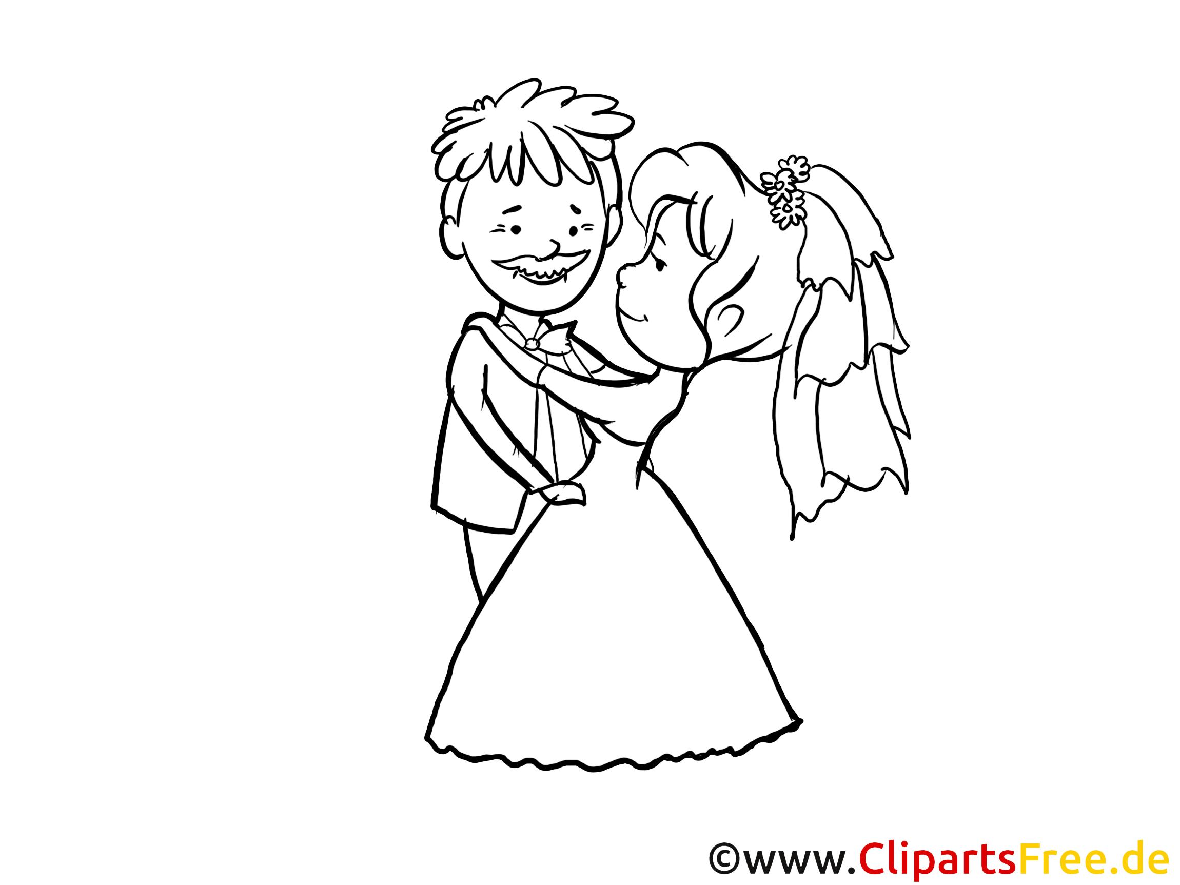 Clip art à imprimer couple – Mariage images