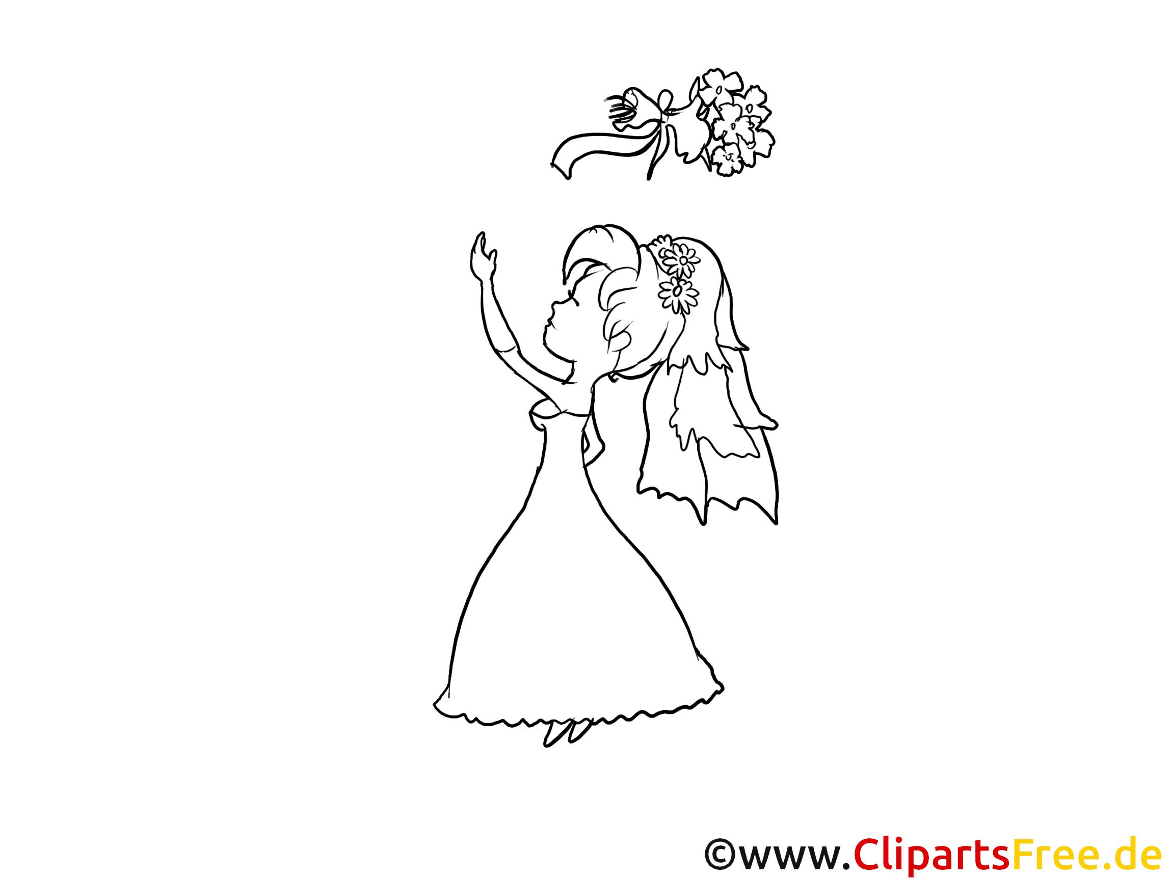Clipart à imprimer femme - Mariage dessins gratuits