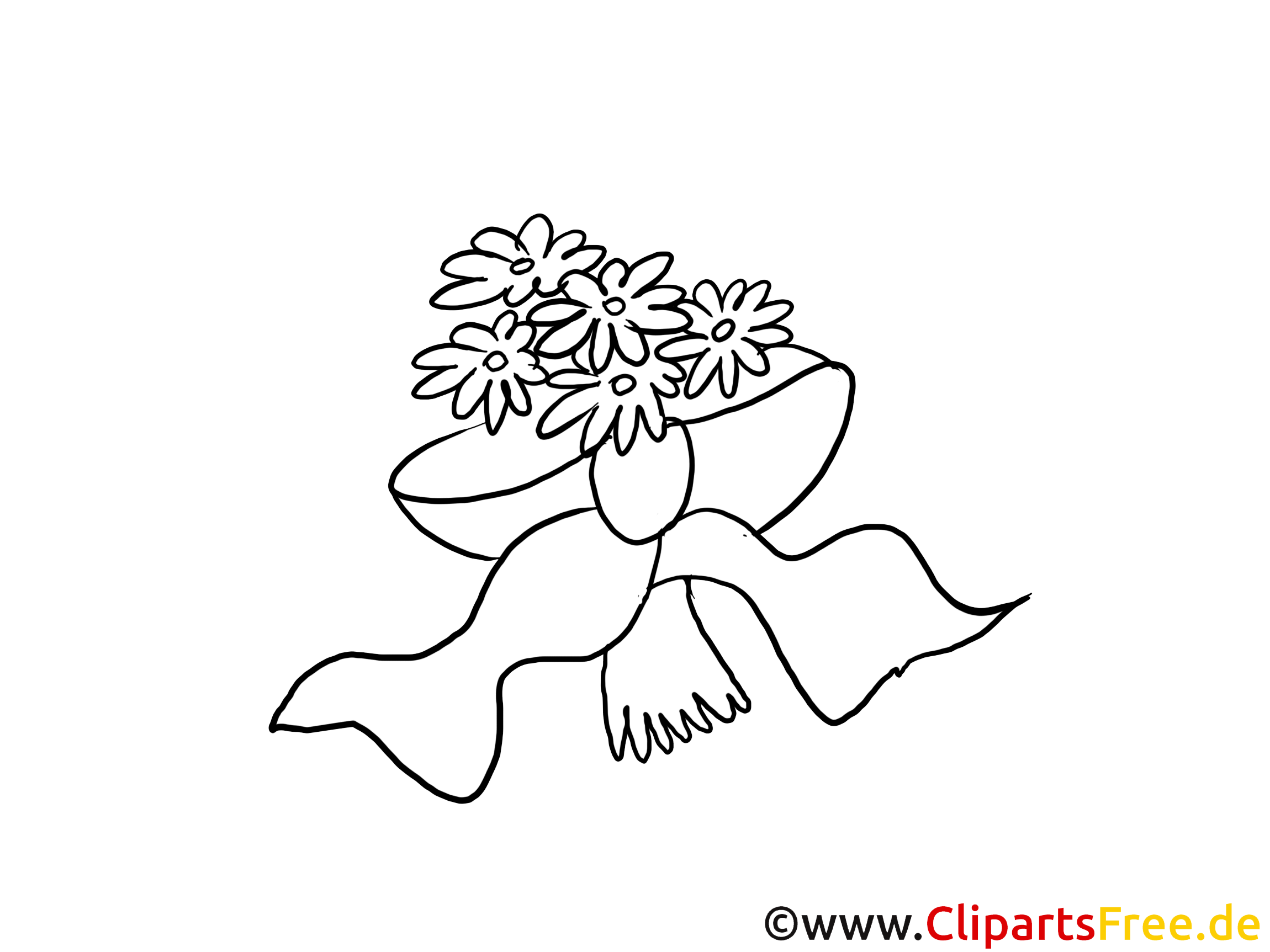 Cliparts à colorier bouquet - Mariage images