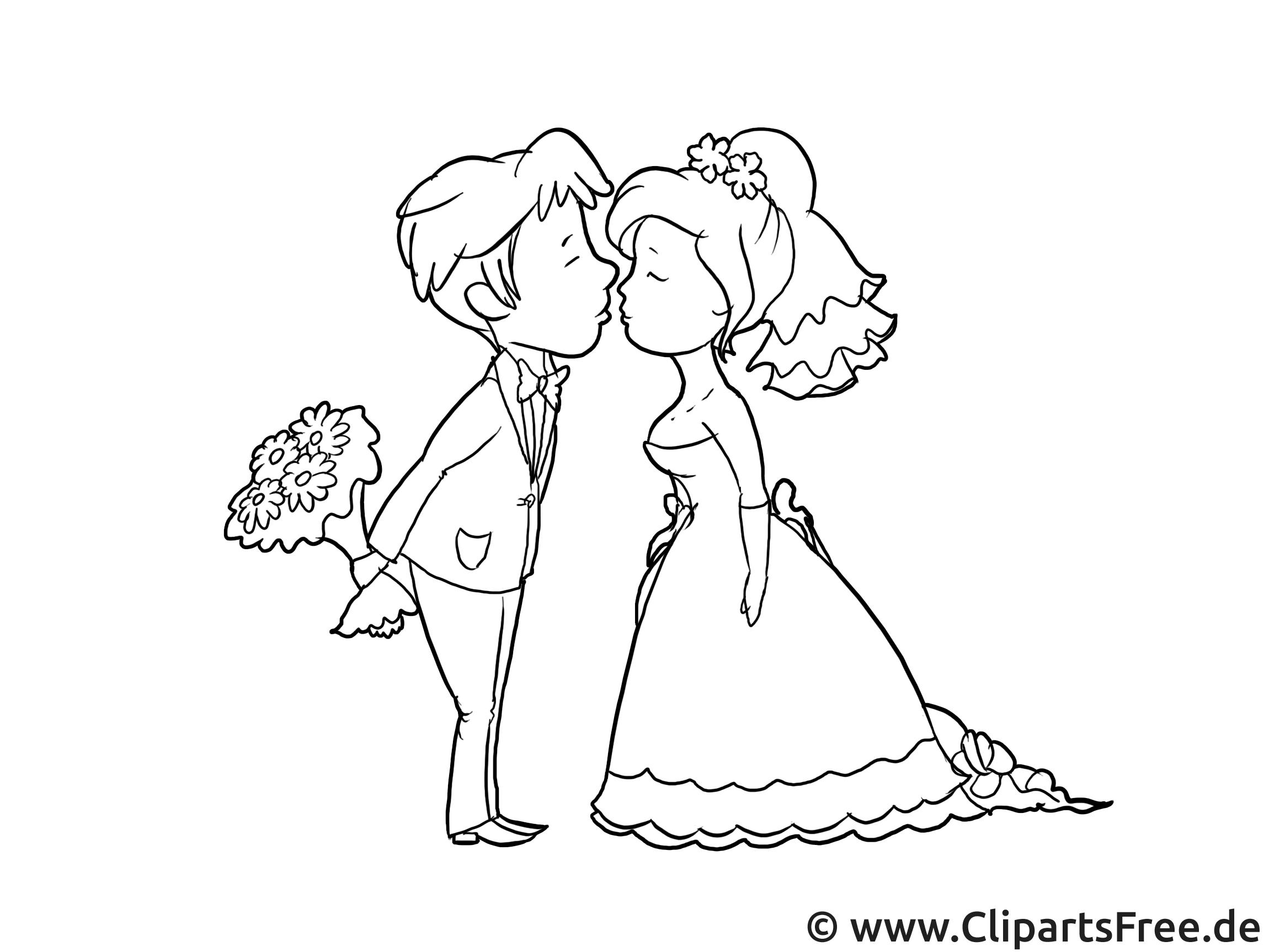 Cliparts à imprimer couple - Mariage images