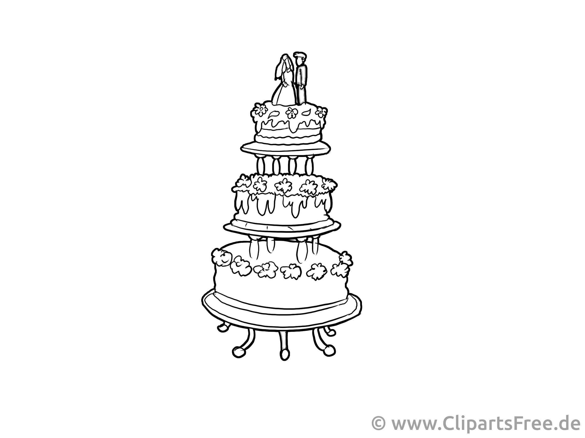 Cliparts à imprimer gâteau - Mariage images