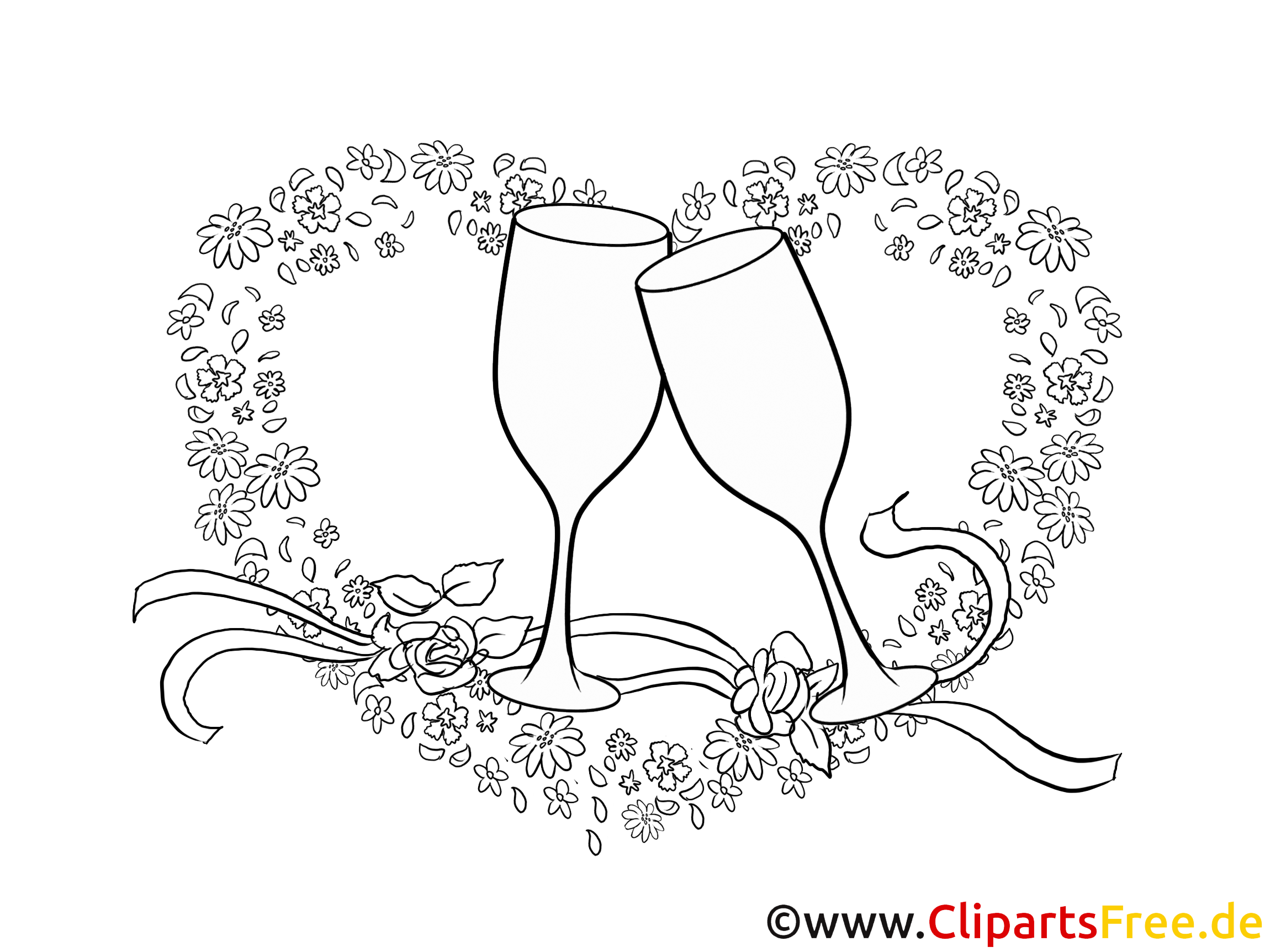 coeur clip art imprimer mariage dessin mariage. Black Bedroom Furniture Sets. Home Design Ideas