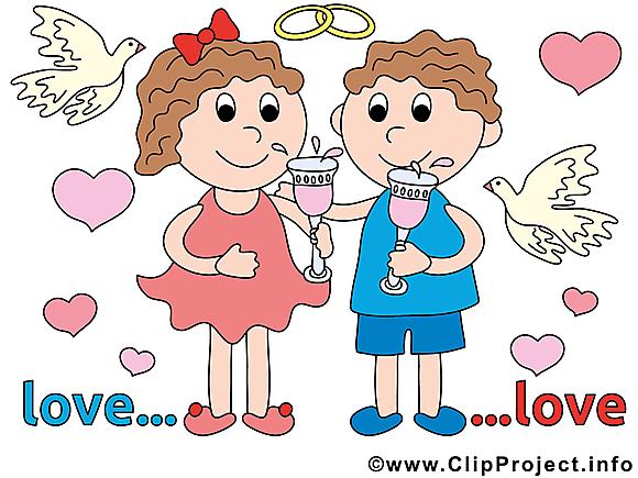 Couple clip art gratuit – Mariage images