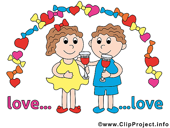 Couple illustration - Mariage dessins gratuits
