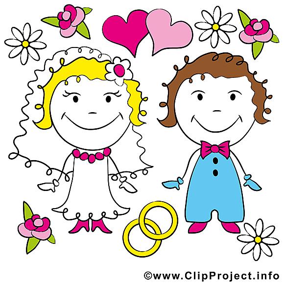 Couple image gratuite - Mariage cliparts