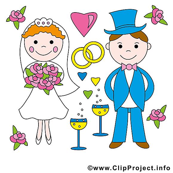 Couple image gratuite - Mariage illustration