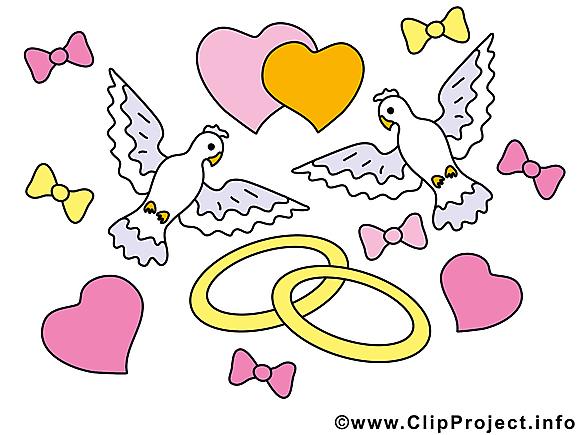 Décoration image gratuite - Mariage illustration