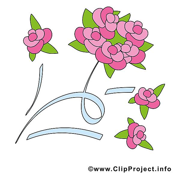 Fleurs image gratuite - Mariage cliparts