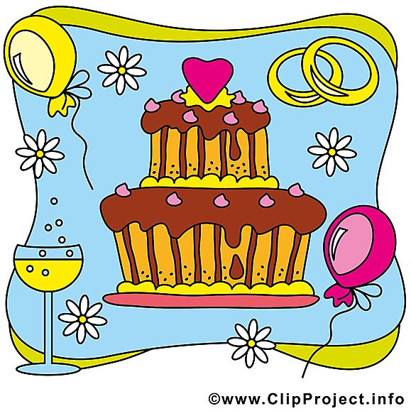 Gâteau clipart gratuit - Mariage images