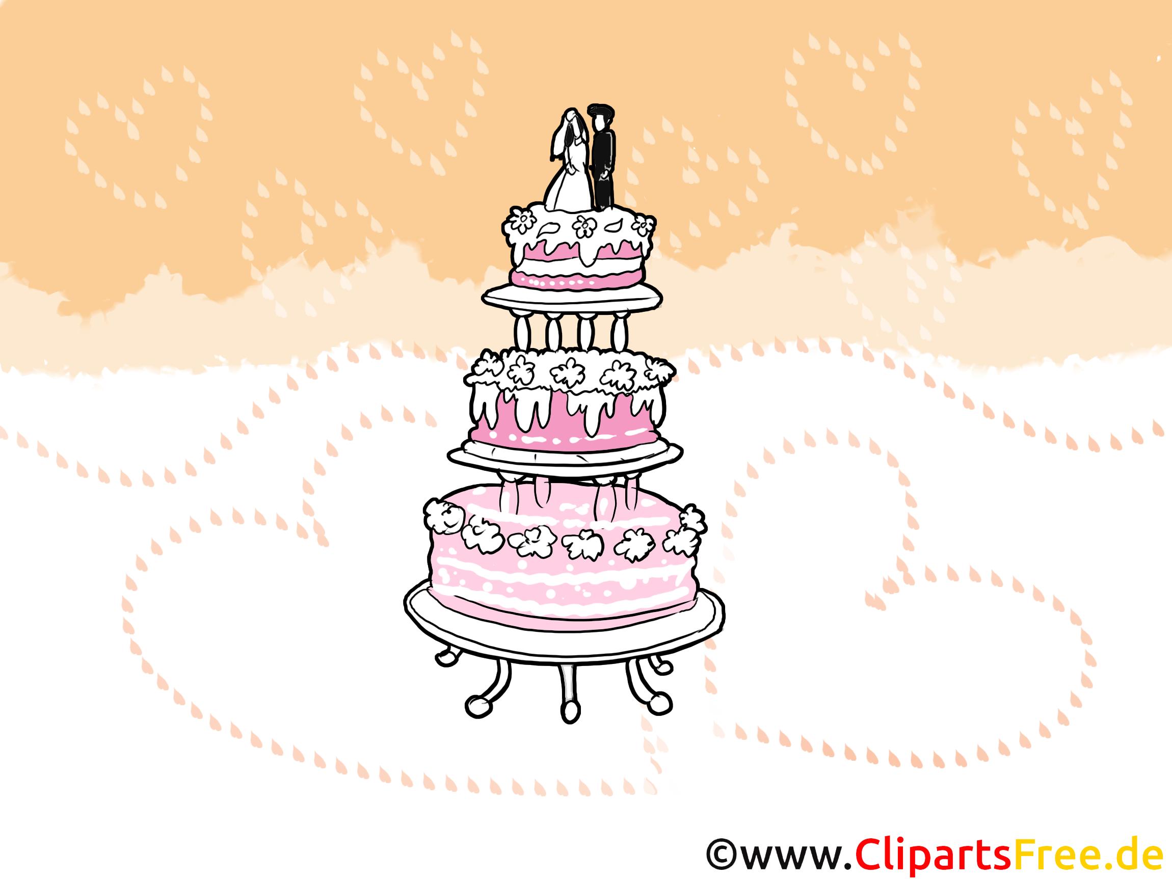 Gâteau images - Mariage dessins gratuits