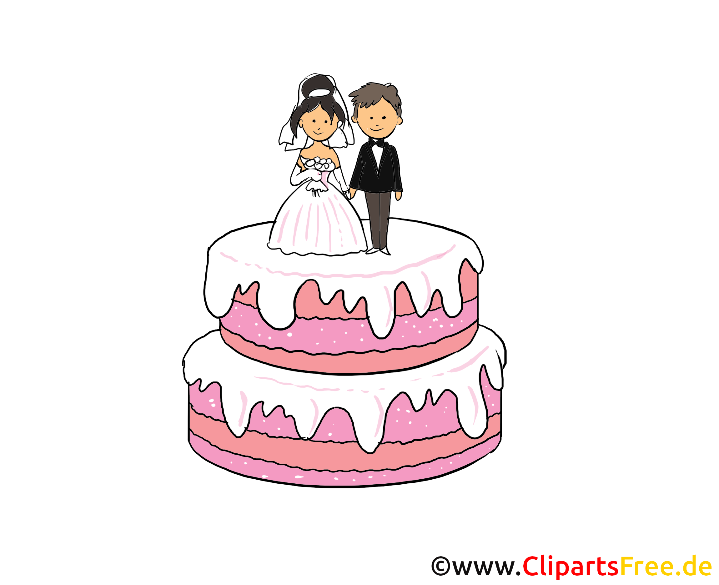image tlcharger gteau mariage clipart - Dessin Mariage