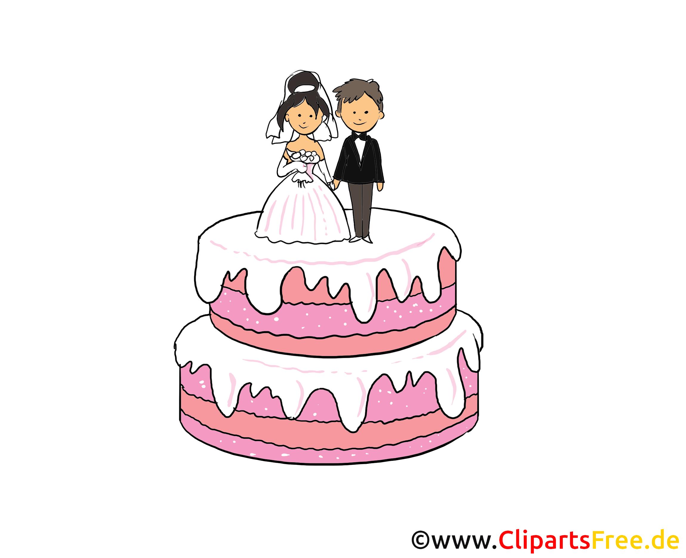 Image à télécharger gâteau - Mariage clipart
