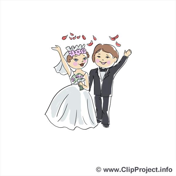 Jeunes mariés image - Mariage clipart