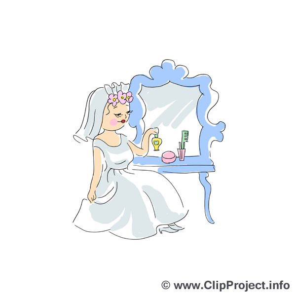 Mirroir dessin - Mariage clip arts gratuits