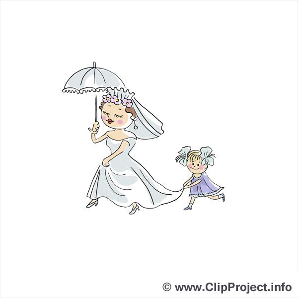Parapluie clipart gratuit - Mariage images