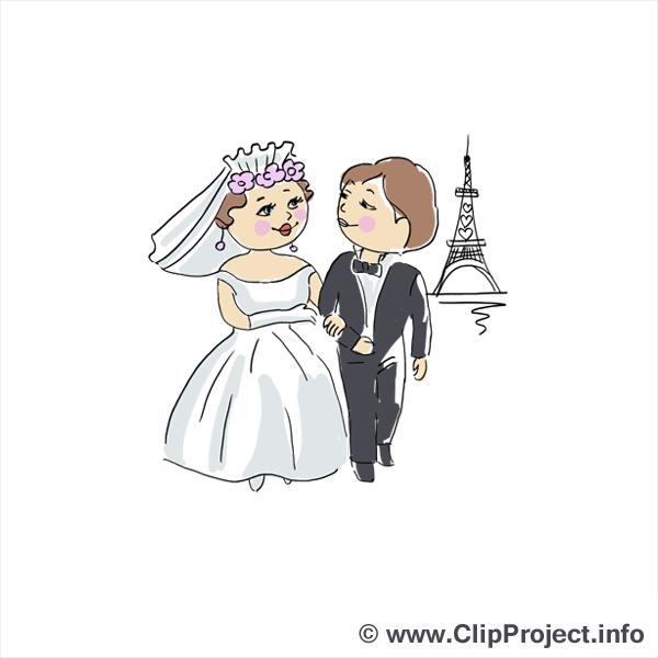 Tour Eiffel clip art gratuit - Mariage dessin