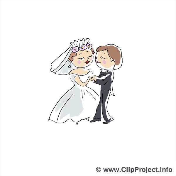 Valse clip art gratuit - Mariage dessin