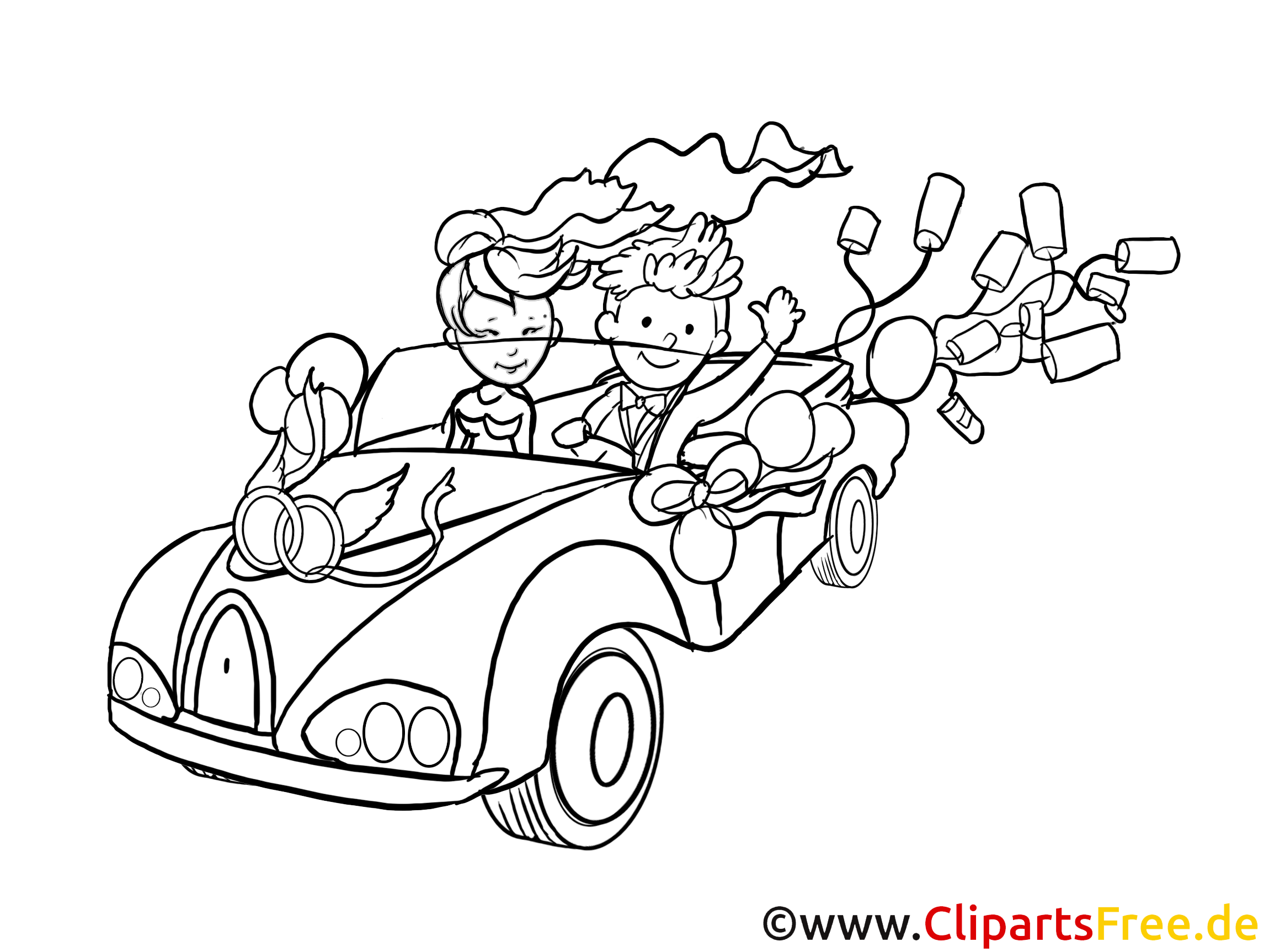 Voiture coloriage mariage cliparts t l charger mariage dessin picture image graphic - Dessin voiture mariage ...