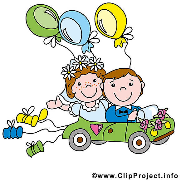 Voiture image - Mariage images cliparts