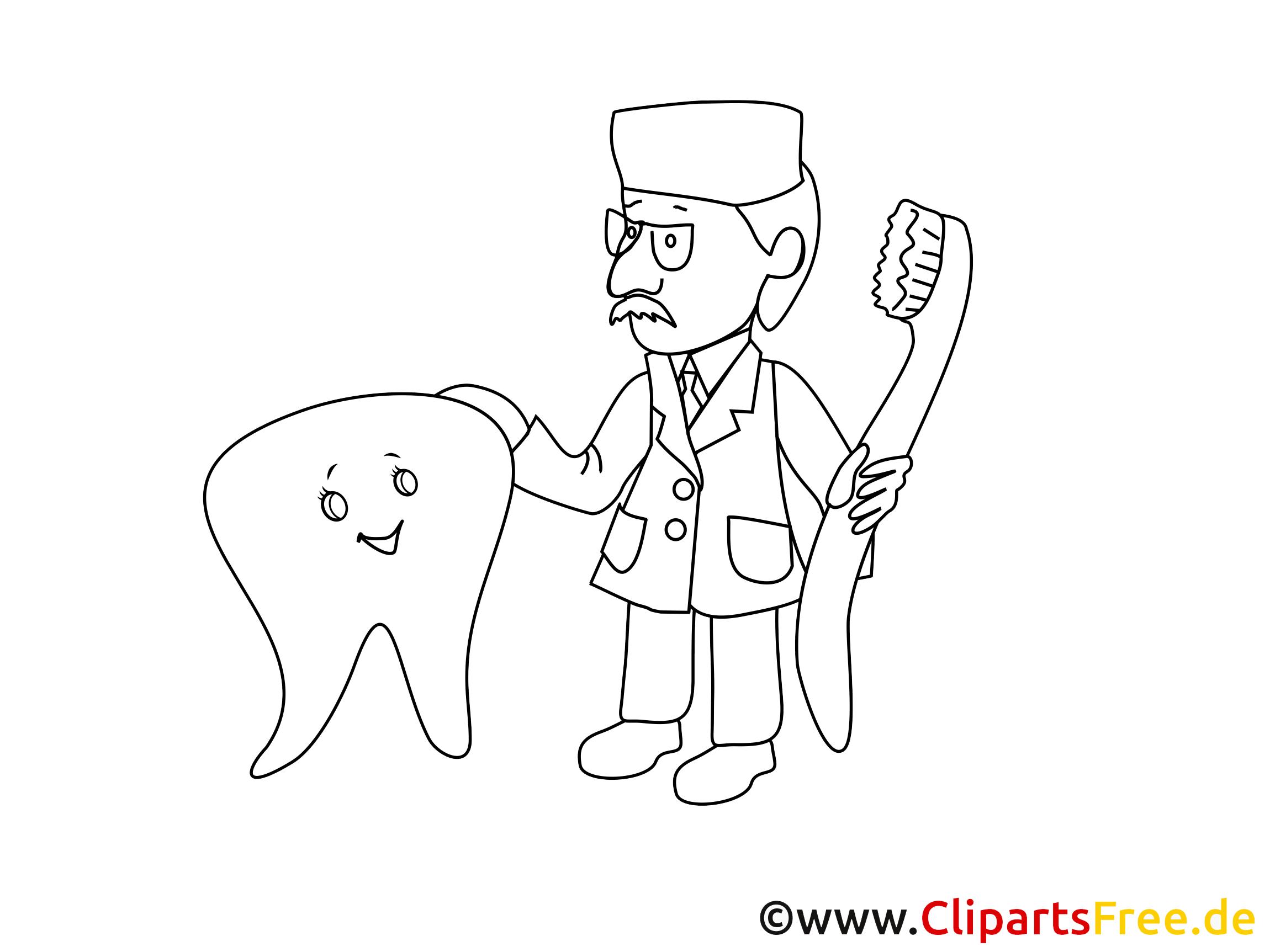 Clipart dentiste coloriage - Médecine images