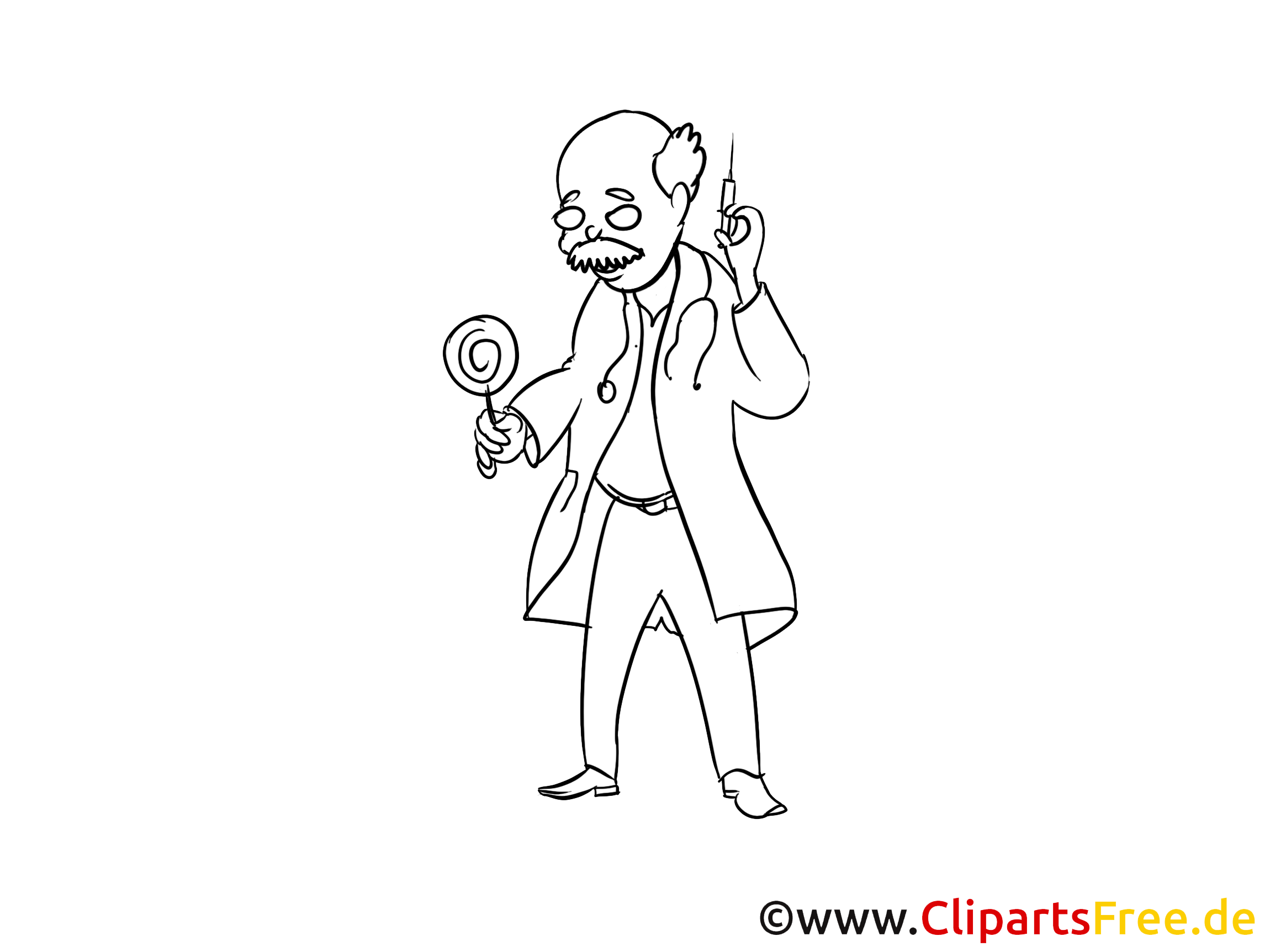 Clipart docteur à colorier - Médecine images