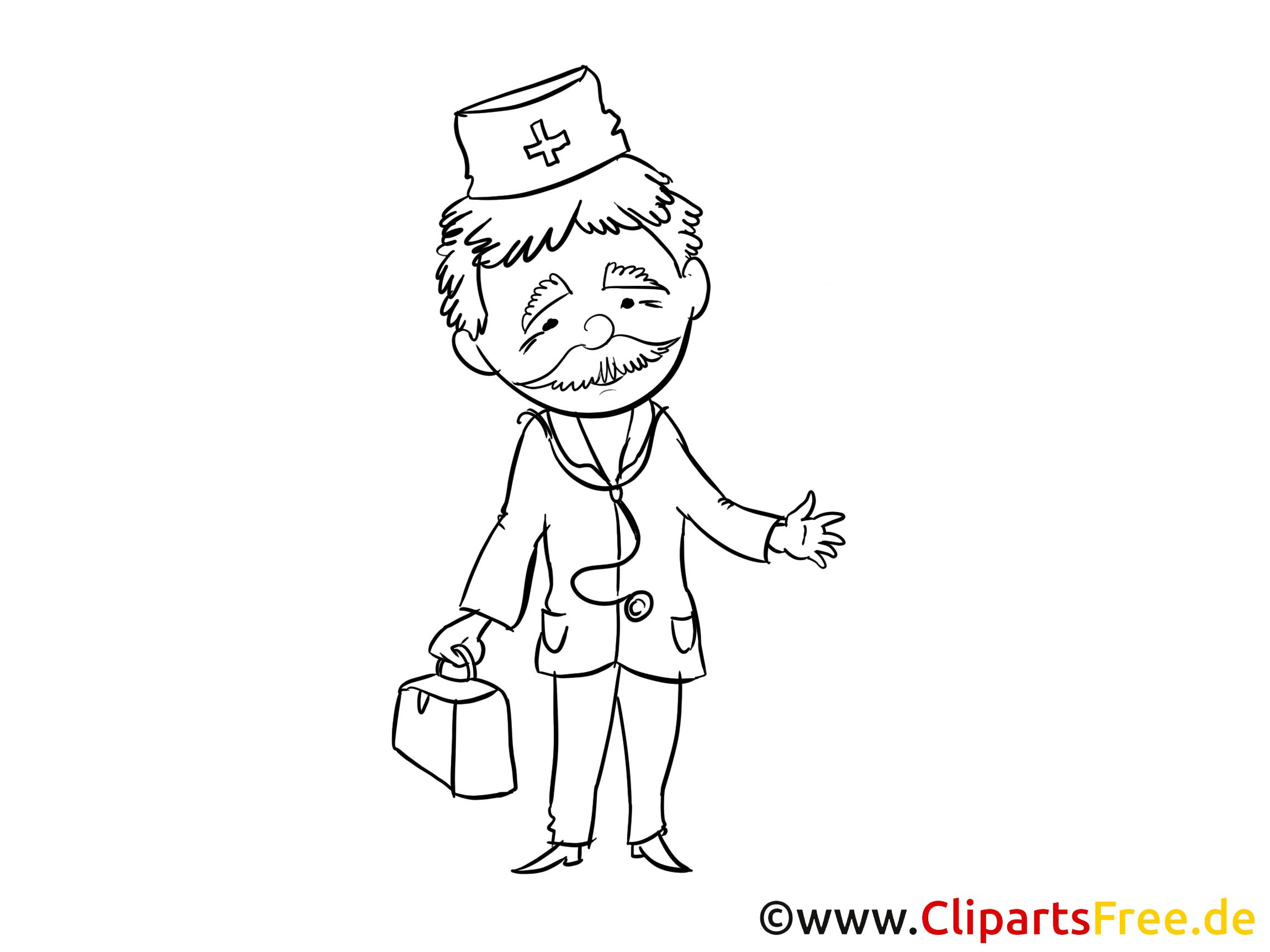 Clipart docteur coloriage - Médecine dessins gratuits