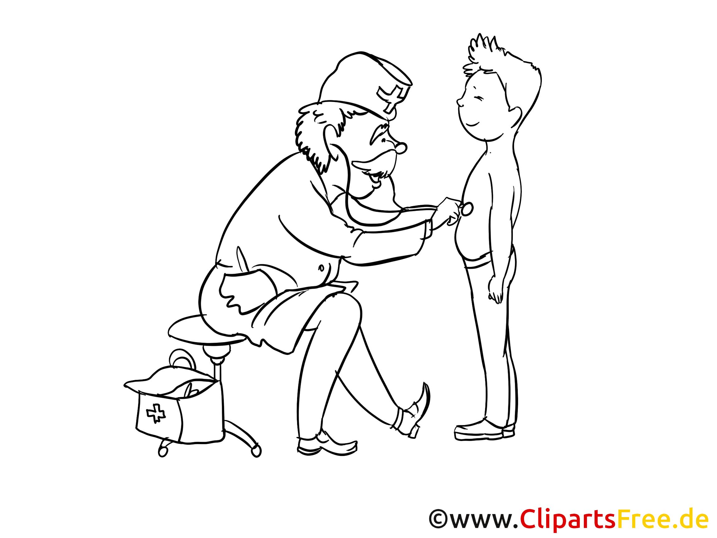 Examens clip art à colorier – Médecine gratuite