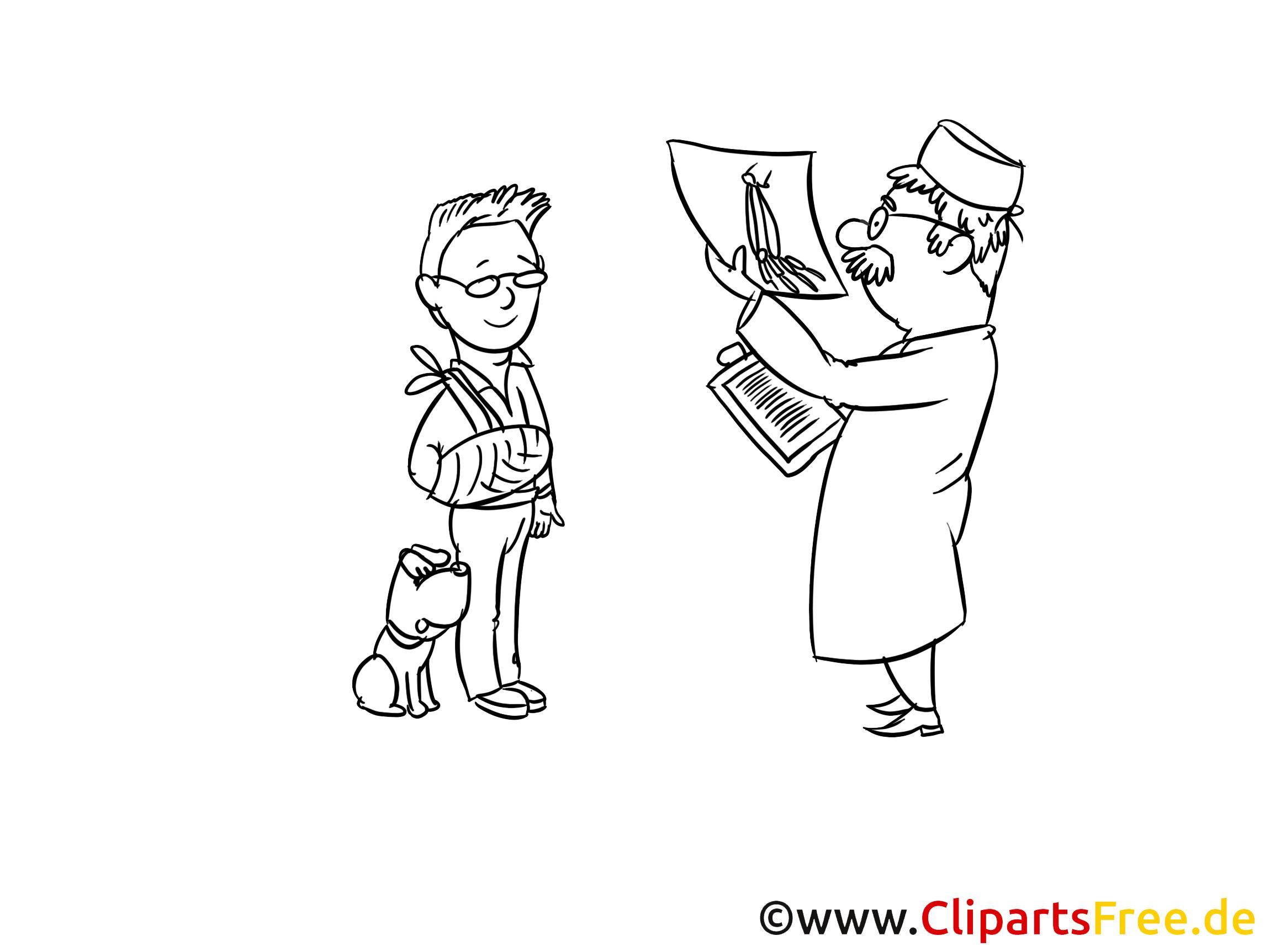 Illustration docteur à colorier - Médecine clipart