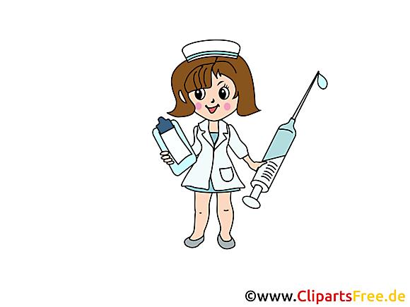 Illustration infirmière  - Médecine images