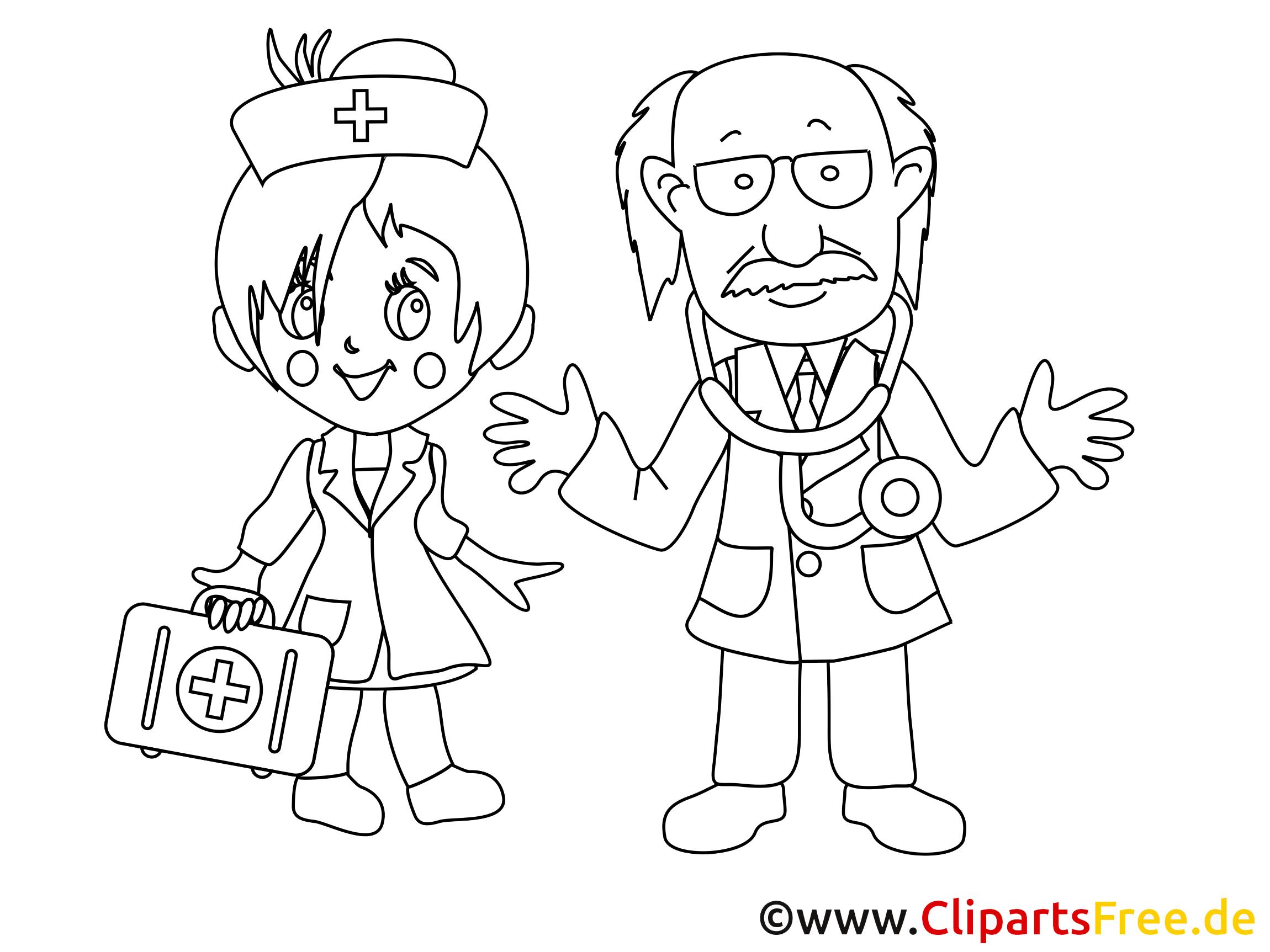 Médecin dessins à colorier - Médecine clipart