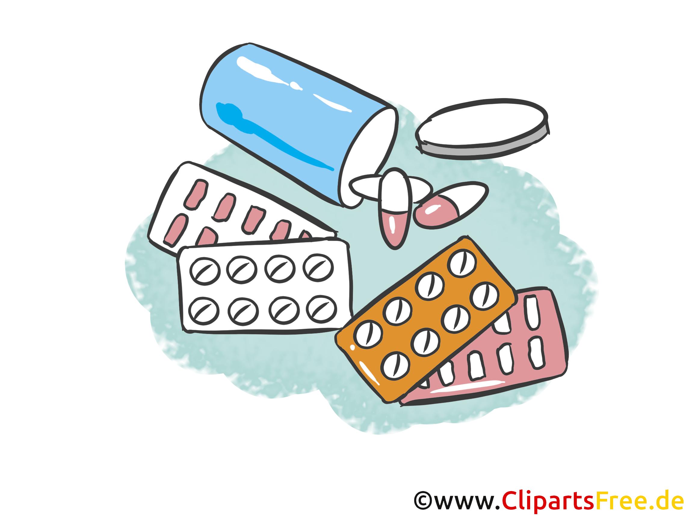 Médicaments clip art gratuit - Médecine dessin