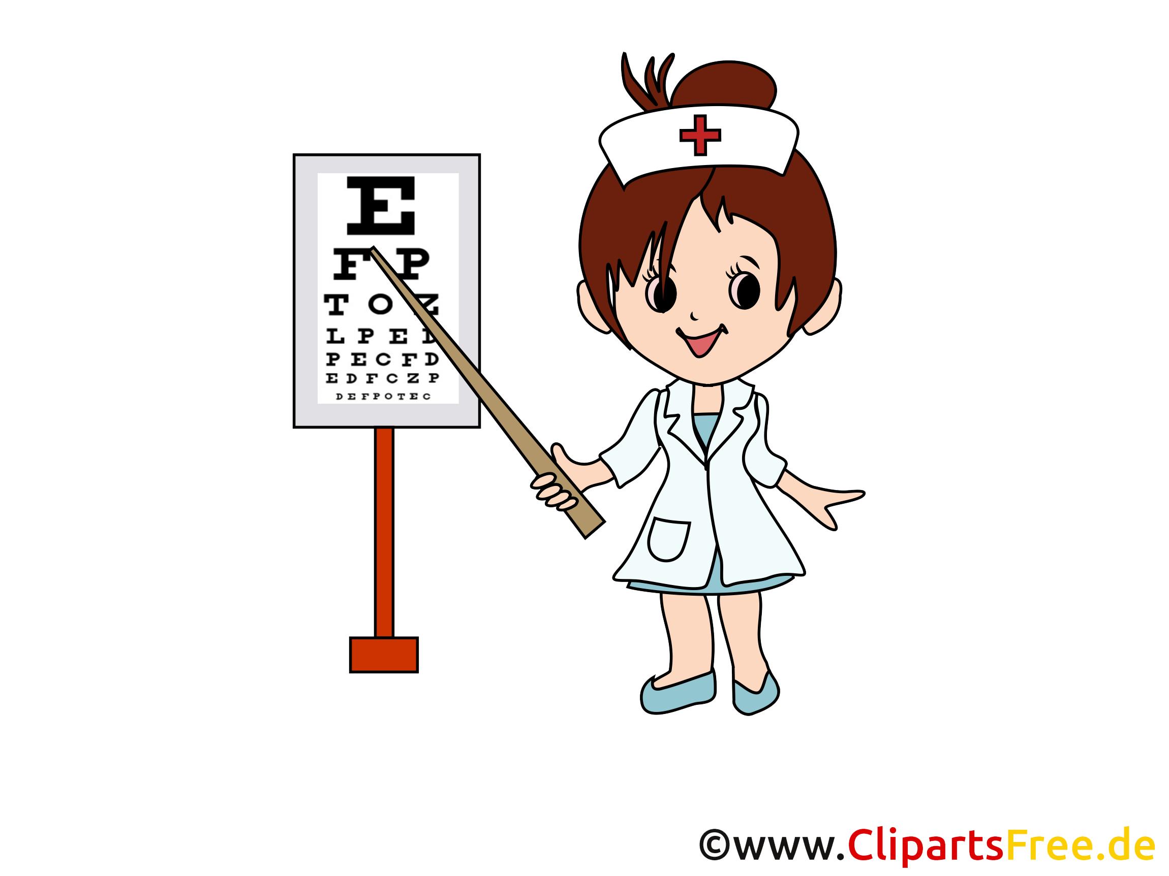 Oculiste images - Médecine clip art gratuit