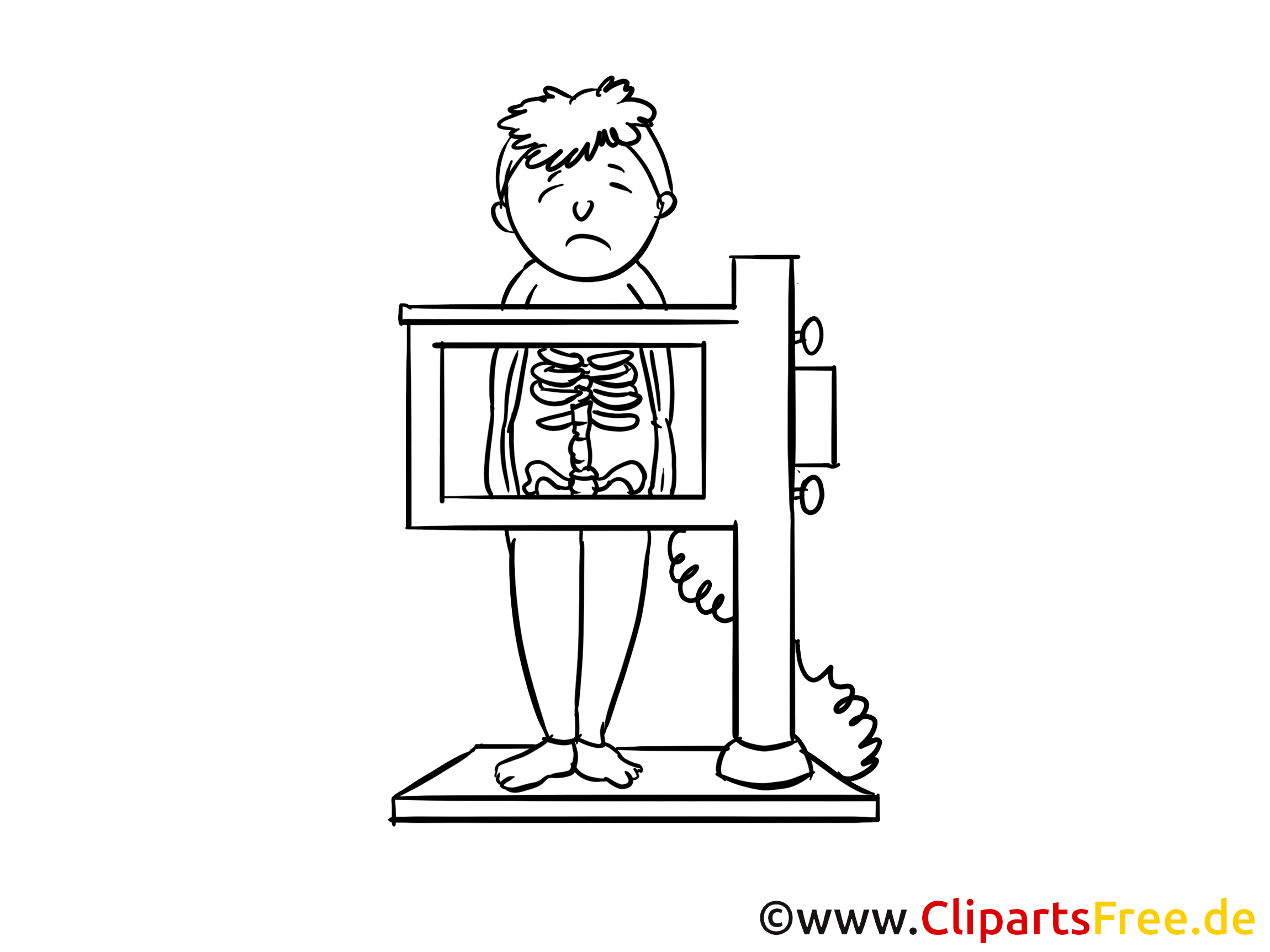 Rayons images à imprimer - Médecine dessins gratuits