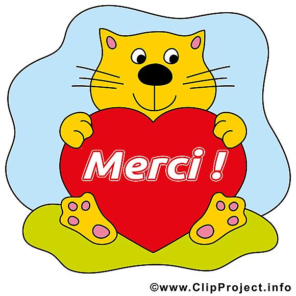 Chat coeur clip art merci gratuite merci dessin picture image graphic clip art - Images coeur gratuites ...