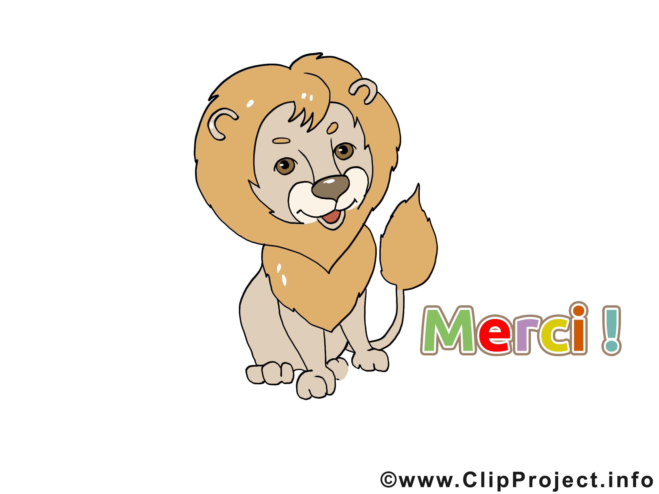 Lion merci image à télécharger gratuite