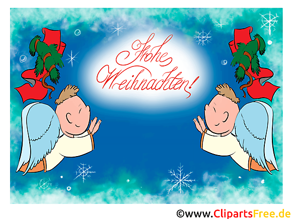 Carte virtuelle Joyeux Noël Clip Art gratuite