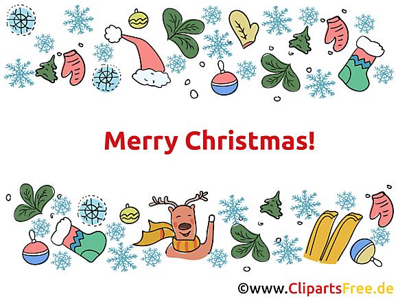 Clipart Joyeux Noël gratuit