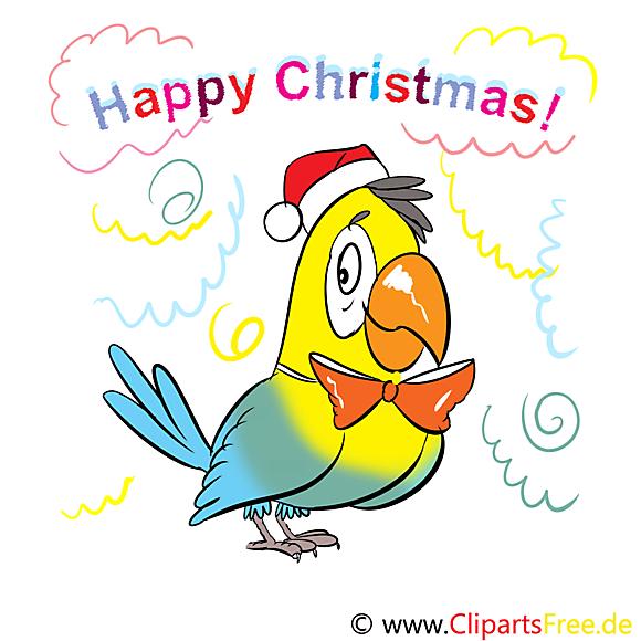 Happy Christmas Cartes de Voeux, Cliparts