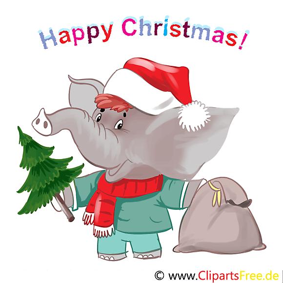 Happy Christmas Cartes de Voeux gratuite