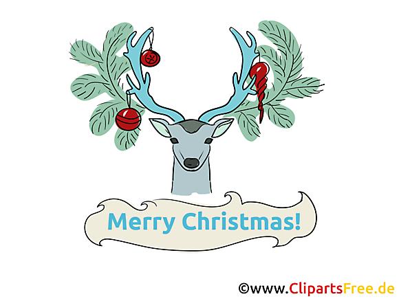 Noël Clipart, Carte de Voeux