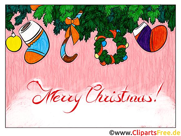 Noël E Carte Cadeau à imprimer ou à envoyer par mail   Merry
