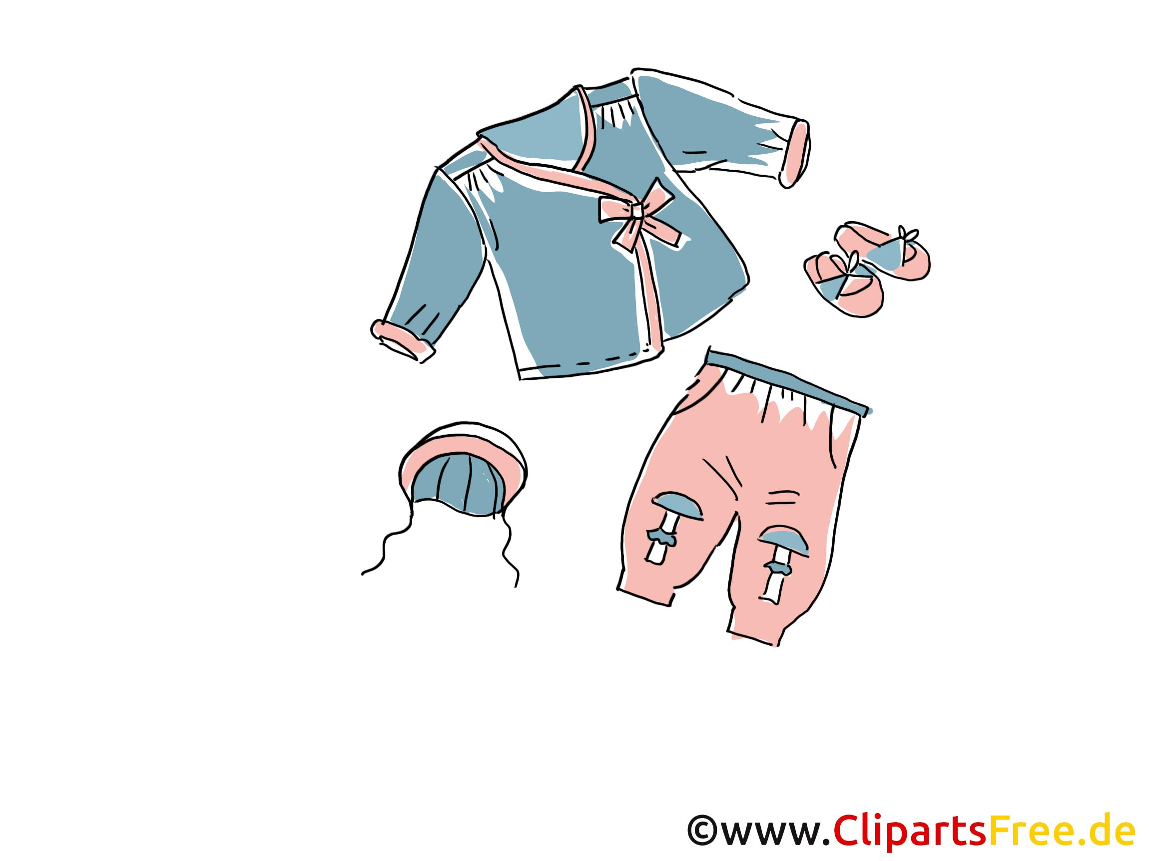 Enfants vêtements dessin clip arts gratuits