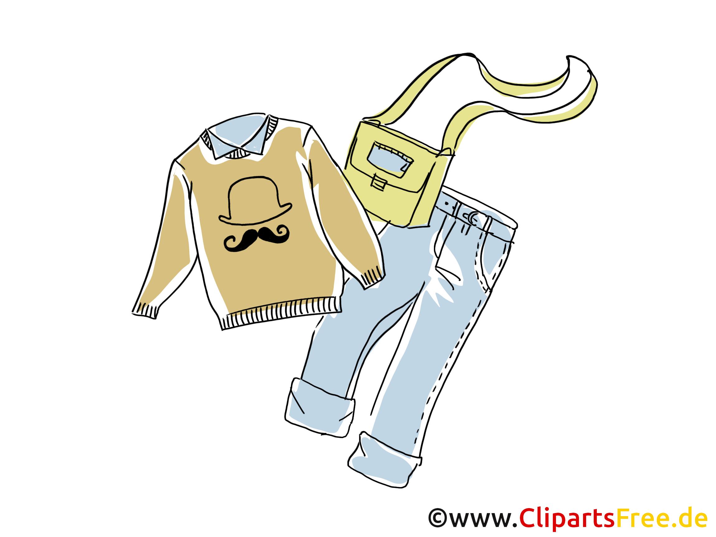 Pull-over jean clipart dessins gratuits